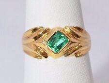 2568-18K YELLOW GOLD EMERALD 3.30 GRAMS SZ 7 RING