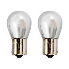 2x BA15S P21W 1156 382 Indicator Turn Signal Amber Chromed Silver Light Bulbs