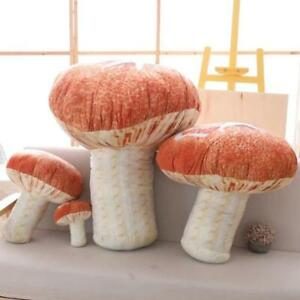 Mushroom Doll Pillow Stuffed Fungus Plush Toy Cushion Home Decor Birthday Gift