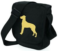 Great Dane Shoulder Bags Metallic Gold / Silver on Black Bag Mothers Day Gift