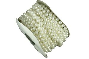 6MM Faux Pearl Plastic 6MM BEADS on a String Craft ROLL 12 YARDS