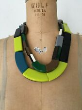 Marni for H + M Set of 2 Necklaces Green Yellow Black Brown