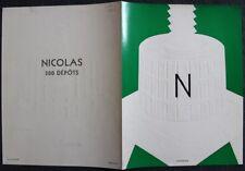 """Encart dépliant VINS NICOLAS """"Pressoir gauffré"""" DARCY 1934 impression Draeger"""