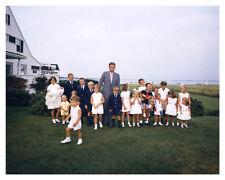 President John F. Kennedy At Hyannisport W/ Family Children Silver Halide Photo