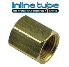 """3/8-24 Inverted Flare Union For 3/16 """" Brake Line UN01 Brass 43375 BLU-7C 1pc"""