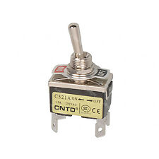 C521A Miniature Toggle Switch DPST Maintained ON-ON 4 Pin 2 Position 250V 15A
