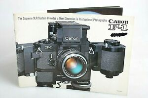 An Introduction to Canon F-1 Large Soft Cover Vintage Guide