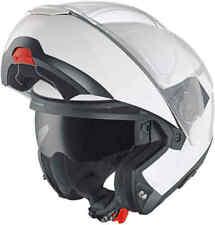 Schuberth C4 Gloss White Sun Visor Flip Front Motorcycle Crash Helmet
