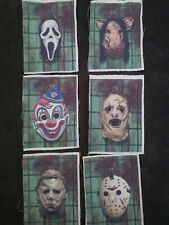 Horror lot of 6 patches michael myers,ghost face,leatherface,jason Voorhees,