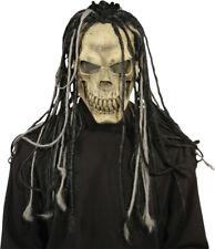 Morris Costumes Halloween Horror Dead Dread Latex Hair Skull Mask. MR031219