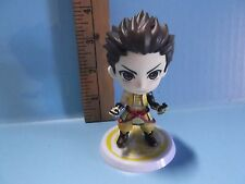 "#A733 Unknown Anime 3.5""in Brown Spiky Hair Girl Yellow Outfit Big Head Basara"
