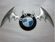 Silver BATMAN KIT 3D Car Emblem Badge Sticker Kit Fits Around Car Logo
