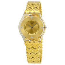 Swatch Golden Street Gold Dial Ladies Watch SFE106G