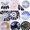 Glitter Crystal Nail Art Ongles Strass Rivets Tips Salon Manucure 3D Décoration