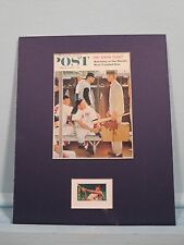 Norman Rockwell 's painting of The Rookie & the Ted Williams stamp