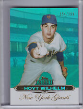 2011 TOPPS TRIBUTE #18 HOYT WILHELM BLUE REFRACTOR NEW YORK GIANTS HOF 154/199