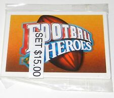1991 UPPER DECK JOE MONTANA FOOTBALL HEROES #1-9 CARD SET
