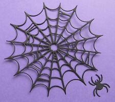 """4 Cheery Lynn 'grandes telaraña con araña """"Die-cortes en tarjeta 270gsm Negro"""