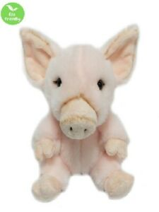 PIG 18CM eco friendly plush soft toy 100% recycled polyester fibre kids cuddly