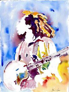 One Love (Bob Marley) - Original Watercolor