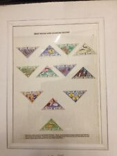 """Herm Island Stamps Vf Set of 12 """"Nature"""" - Birds, Butterflies, Fish - Og Mh 1954"""