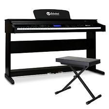 88 TASTEN E-PIANO KLAVIER 2 PEDALE KLASSIK KEYBOARD SET mit PIANO HOCKER SITZ
