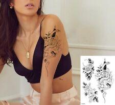 Fiore Serpente Croce Spada impermeabile tatuaggio temporaneo adesivo * REGNO UNITO */- m105 -/