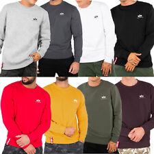 Alpha Industries Herren Sweatshirt Basic Small Logo Pullover Sweater
