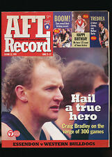 1999 AFL Football Record Essendon Bombers vs Western Bulldogs June 25  unmarked