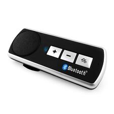 Bluetooth 4.0 Multi-Point A2DP Music Car Handsfree Call Speaker Phone Visor Clip