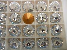 8 Swarovski rivoli stones,18mm crystal / foiled #1122