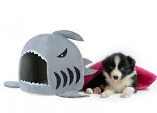 Pet House Shark 3 Größen Körbchen Höhle Katzenhöhle Hundebett Hai Katzenbett