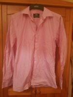 Men's Taylor and Wright Pink Striped Shirt Size 15 Collar