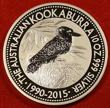 2015 10 OZ AUSTRALIAN KOOKABURRA DESIGN .999 SILVER ROUND BULLION COLLECTOR COIN
