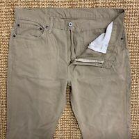 LEVI'S Mens 511 Jeans W36 L30 Beige Cotton Straight  Leg Regular Fit Zip Fly