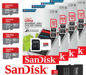 SanDisk Ultra MicroSD 16/256/512GB Class10 SDHCSDXC 100MBs Memory Card+Adapter