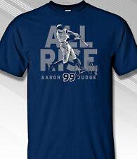 "Aaron Judge #99 New York ""All Rise"" Navy Baseball Tee Adult XL T-Shirt"