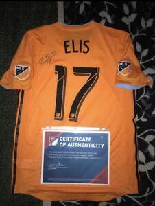 Adidas Rare MLS KCC Houston Dynamo Alberth Elis Gameworn Autographed Jersey CoA