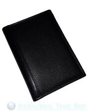 Goldpfeil Brieftasche Herrenbörse Portemonnaie Etui Leder Luxus Premium schwarz*