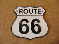 Historic Route 66 Cast Iron Plaque Sign Man Cave Garage wrought Rustic Shabby
