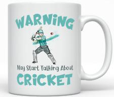 Funny Cricket Mug - Gift for Him - Sports Batting Player Birthday Christmas