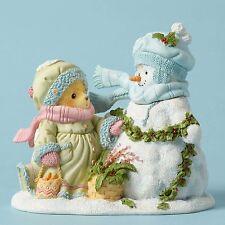Cherished Teddies~JINNY WTH SNOWMAN~2016~FREE SHIP