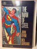 THE MAN OF STEEL TPB DC COMICS SUPERMAN BYRNE GIORDANO HTF 1ST PRINT 1987 VF/NM