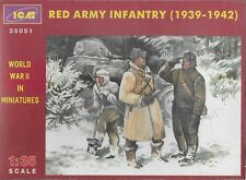 Red Army Infantry (1939-1942) 3 Figures 1/35  ICM 35051 (Free Shipping)