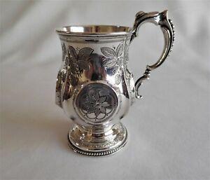 Antique sterling silver tankard/mug. c 1873 Birmingham United Kingdom.