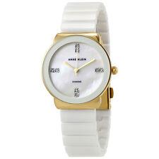 Anne Klein White Dial White Ceramic Ladies Watch 2714WTGB