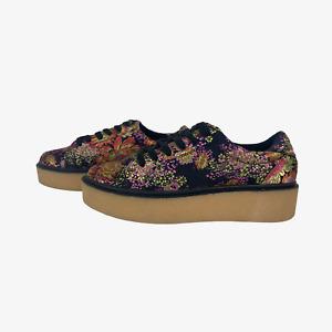 NEW LOOK Ladies Womens Shoes Size UK 4 EU 37 Multicoloured Flatform Lace up Heel