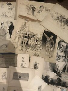 Collection of Drawings, Sketches And Prints. 22 Pieces In This Lot