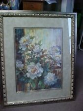 Lena Liu Numbered and Signed Floral 328/950 Framed & Matted PEONY ENCHANTMENT LG