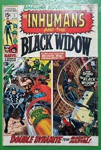 Amazing Adventures #1 Inhumans 1st Solo Black Widow Kirby Buscema 1970 Marvel VG